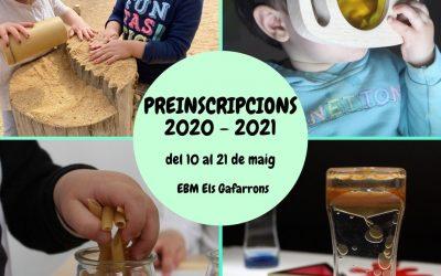 Preinscripcions 2021-2022